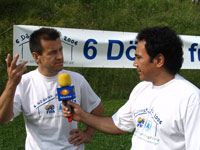 Interview partners Sanchez (right) and Dunga - Photo: W. Kehl