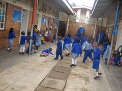 Learning through play at the SOS Kindergarten (photo: SOS archives).