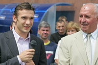 Andriy Shevchenko and Boris Voskresenskey, coach of the Ukrainian national team - Photo: V. Pobedenskiy
