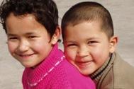 Two little inhabitants of SOS Children's Village Urumqi - Photo: SOS Archives