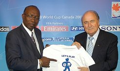 FIFA President Joseph S. Blatter and J.Warner, FIFA Vice President - Photo: SOS Archives