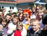 Lou at the SOS Children's Village Islice - Photo: M. Maegi