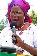 Mrs Latoundji, Minister of Social Affairs, during her speech - Photo: C. Ngo-Biyack