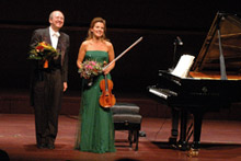 Anne-Sophie Mutter and Lambert Orkis showed their strong social commitment - Photo: Claude Sauber