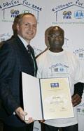 New 'FIFA for SOS Children's Villages' ambassador Roger Milla - Photo: GES-Sportfoto
