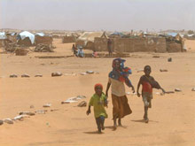 Oure Cassoni - a refugee camp in the desert - Photo: SOS Archives