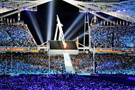 Impressive backdrop at the official closing ceremony of the Summer Olympic Games in Athens - Photo: Contrastphoto