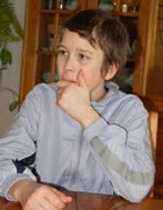 The boy is more serious than other boys his age (Photo: Marko Mägi)