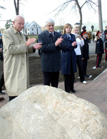 SOS Children's Village Mogilev: the cornerstone has been laid - photo: M. Mägi