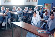 For the first time attending school: Girls at Shamshatoo, Pakistan - Photo: SOS Archives