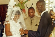 A dream come true! Cecelia and Emmanuel exchange their rings. (Photo: SOS Archives)