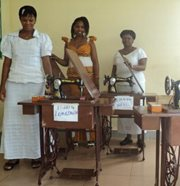 Women from the community receive sewing machines so that they can generate income (photo: O. Touray)