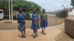 Three girls coming home after a day at school (photo: SOS archives).