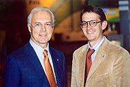 Franz Beckenbauer (left) and HGFD Executive Director Georg Willeit - Photo: W. Kehl