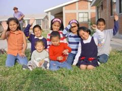 Family photo at the SOS Children's Village Callao (photo: SOS archives)