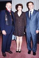 L.-r.: H. Mueller, Ana-María Granda, President of SOS C. V. Bolivia, President Quiroga - Photo: F. Espinoza