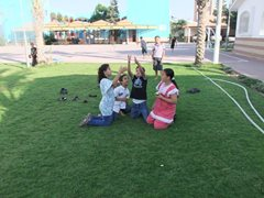 Brothers and sisters playing in SOS Children's Village Rafah (photo: SOS archives).