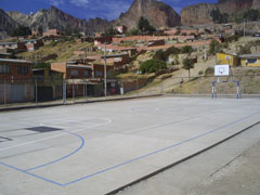 The news FIFA football ground in El Alto city - Photo: SOS Archives
