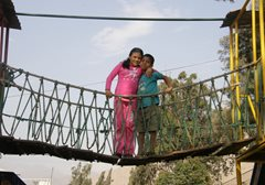 Crossing the bridge to a better future - children at SOS Children's Village Río Hondo (photo: F. Espinoza)