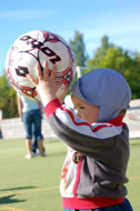 Even little kids got excited about football (Photo: Marko Mägi)