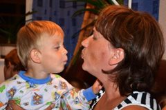 This little boy can grow up feeling secure in the arms of his SOS mother (photo: M.Mägi).