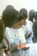 SOS social workers register youths upon arrival - Photo: SOS Archives