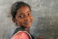 Girl who visits the SOS Activity Centres in Komari (Sri Lanka) daily - Photo: S. Posingis