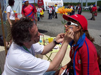 Face painting at the SOS Children's Village information stand - Photo: Hugh Linnehan