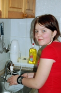 13-year-old Varya says that her enthusiasm in cleaning depends on the task (Photo: M. Mägi)