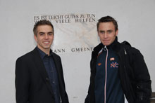 Lahm (left) and Hofmann became FIFA/SOS ambassadors - Photo: W. Kehl