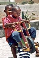 In the playground in SOS Children's Village São Domingos - Photo: R. Wechselberger