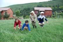 Playing outdoors is among the favourite activities of children from SOS Children's Village Tbilisi (Photo: Katerina Ilievska)