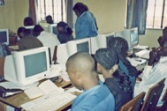 Computer course at the SOS Vocational Training Centre Lilongwe - Photo: SOS Archives