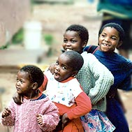 Children from the AIDS outreach programme in Mbabane (Swaziland) - Photo: I. Famula