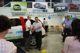 Handing over the car