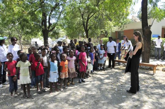 Angelina Jolie in SOS Children's Village Haiti - SOS