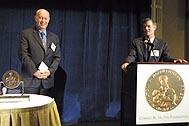 Steven Hilton (right) and Helmut Kutin (left) at the award ceremony - Photo: C. Jones