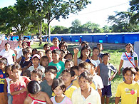 Children gather for play at the SOS day-care centre in Trinidad - Photo: F. Espinoza