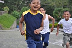 Children playing together in SOS Children's Village Matagalpa (photo: P. Verbeek)