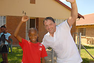 Special guest Gary Mabbutt at the new village in Rustenburg - Photo: Tottenham Hotspur
