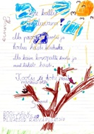 Christmas letter written by child from CV Keila (Photo: SOS Archives)