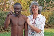 Nomore and his coach Bev Cockcroft - Photo: J. Dufty