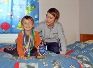 Tanel laughing together with his little brother (Photo: Marko Mägi)