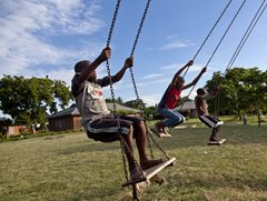 Playground of the SOS Kindergarten - photo: H. Atkins