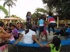 Children having fun at a party in SOS Children's Village Esteli (photo: SOS archives).