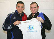 Shevchenko and Rooney team up for SOS Children's Villages - Photo: SOS UK