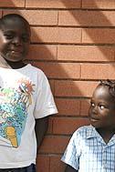 Two little dwellers of SOS Children's Village Entebbe - Photo: S. Pleger
