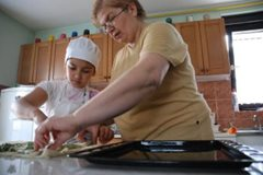 Mother and child cooking together (photo: K. Ilievska)