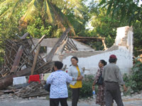 Relatives from SOS staff have lost their houses in Bantul - Photo: SOS Archives